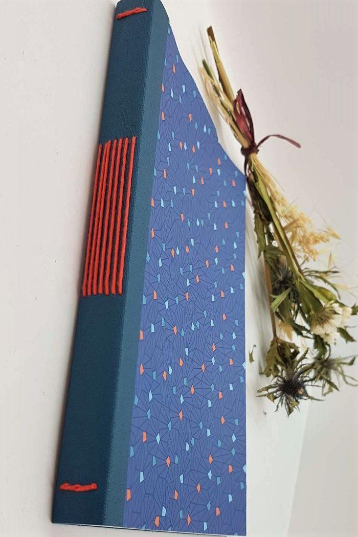 a5 long stitch bleu motifs