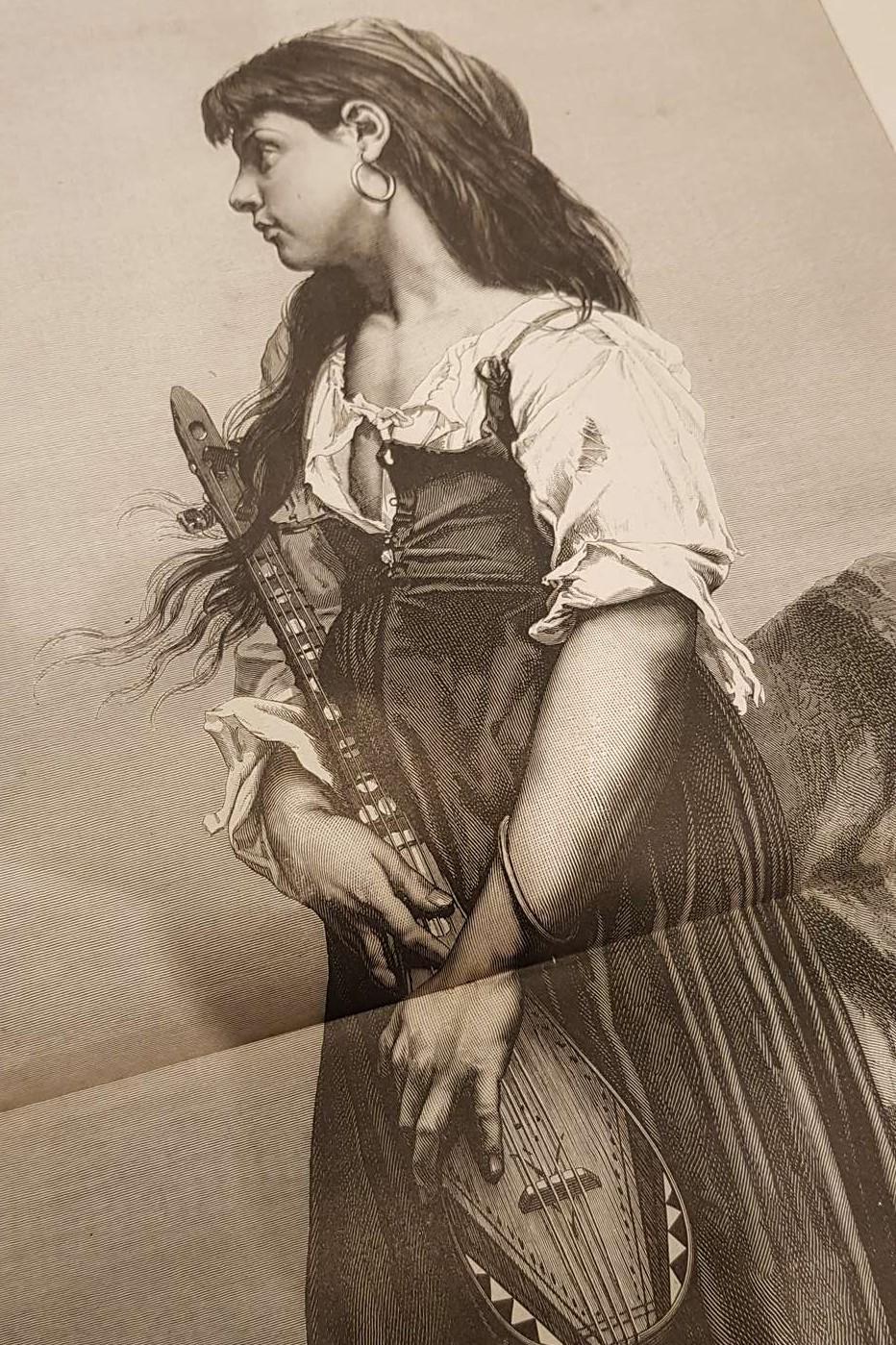 femme à la mandoline le monde illustré reliure