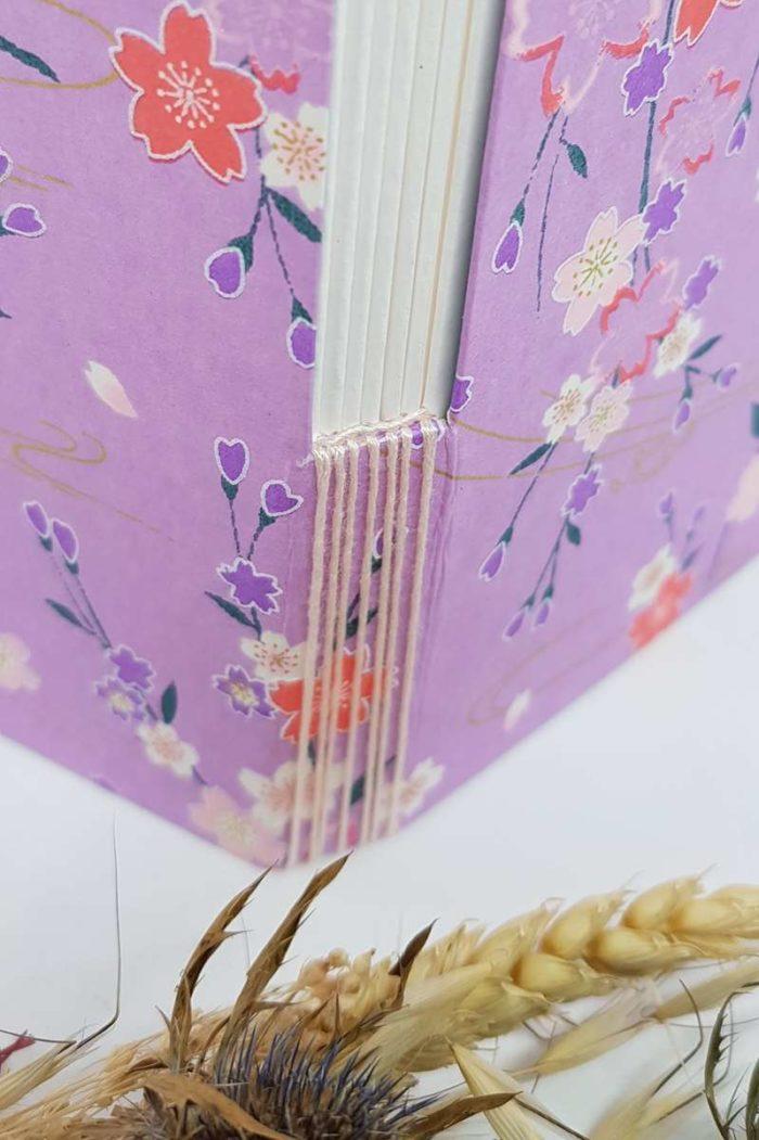carnet aquarelle violet