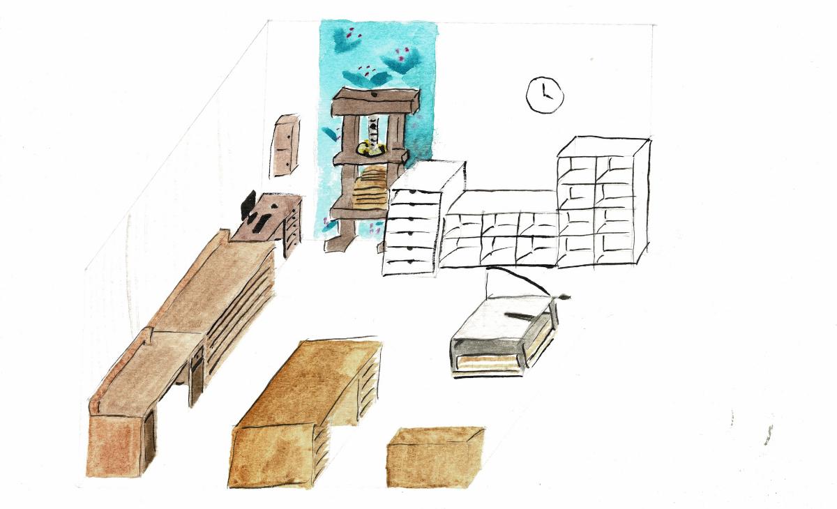 dessin du nouvel atelier