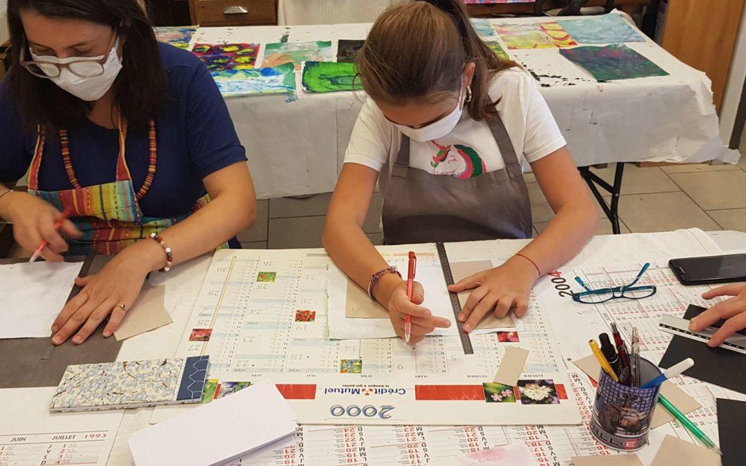 Les Ateliers de reliures créatives à l'Atelier 2C